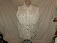 Antilia Femme XL White Sleeveless Blouse Zipper Pockets