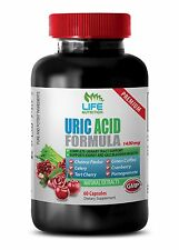 Gout Relief Capsules - Uric Acid Formula 1430mg - Pomegranate 40% Extract 1B