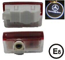 2 x LED Éclairage Porte Laser Logo Projecteur Lampe Mercedes BENZ Classe A B ML