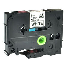 1PK TZ-221 TZe-221 Black on White Label Tape For Brother P-Touch PT-4000 9mmx8m