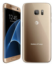 GSM UNLOCKED Samsung Galaxy S7 Edge 32GB G935A AT&T BLACK GOLD SILVER BLUE