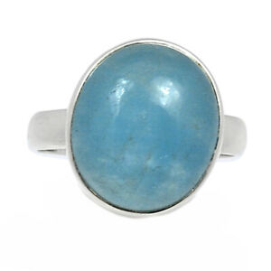 Aquamarine - Brazil - Stone Of Courage 925 Silver Ring Jewelry s.7.5 BR92000