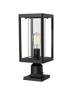 "Brand New Beionxii Outdoor Post Light 19 1/4"" w/ 3"" mount adaptor"