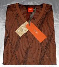 Boss Hugo Boss Tint1 Orangelabel Modische T-Shirt Hemd Sommerleicht Gr.M Braun