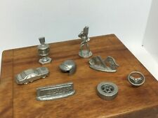 8 Nascar Monopoly Pewter Moving Token Pieces 1997 Complete Set