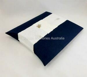 Hand Made Sustainable & Biodegradable Navy Blue Journey Water & Earth Burial Urn
