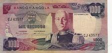 BILLET BANQUE ANGOLA 1000 escudos 1972 état voir scan 577