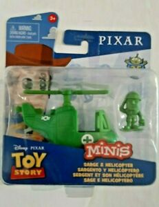 2020-Disney Pixar Toy Story Minis-Sarge & Helicopter-25th 1995-2020-3+
