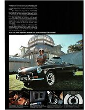 1972 MG MGB Midnight Blue Convertible VTG PRINT AD