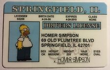 Homer Simpson - The Simpsons - Springfield, Drivers License - Novelty