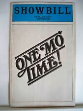 ONE MO TIME Playbill CAROL WOODS / DICK VANCE / PEGGY ALSTON / NYC 1981