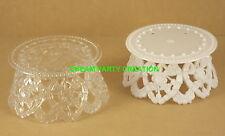 "Plastic Cake Top Base stand ROSE design 3.5"" x 1.75 CHOOSE COLOR & PACK AMOUNT"