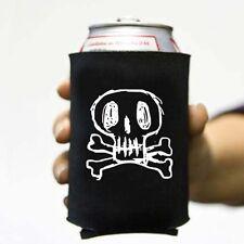 Sketchy Skull and Bones Pirate Beer Pop Can Koozie Koolie Cooler Insulator Cozy