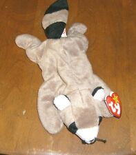TY Original Beanie Baby RINGO the Raccoon Date of Birth 7-14-95 New w/hang tag