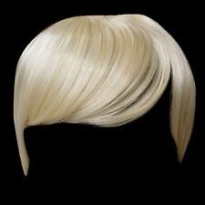 Fringe Bang Clip en extensiones del pelo recto más livianos Rubia # 60 Frontal