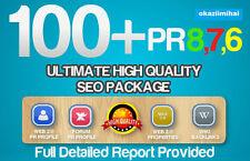 100 Real High Pr Quality BACKLINKS PR8-PR1, Authority sites,Forum,Profile. SEO