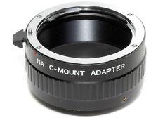 Adapter C-mount (cine 16mm.) - Nikon per installare ottiche Nikon su C-mount