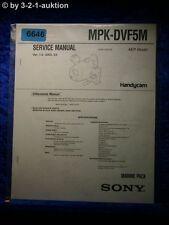 Sony Service Manual MPK DVF5M Marine Pack (#6646)