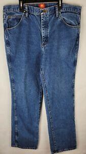 Vintage Wrangler 36MWZ Slim Fit Mens  Denim Blue Jeans Size 38X32
