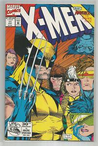 X-MEN # 11 * CLASSIC COVER * JIM LEE art * MARVEL COMICS * 1992