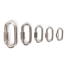 Stainless Steel Screw Lock Climbing Gear Carabiner Quick Links Safety Snap Ho_Us