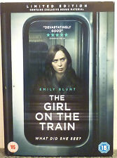 THE GIRL ON THE TRAIN DVD - NEW/SEALED EXCLUSIVE Ltd Edition Bonus Material 2017