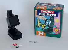 MONITOR + MICROSCOPIO TASCO 300 INGRANDIMENTI Con Luce a 3 Vie