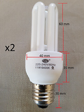 Energy Saving 11W= {60w} CFL T2 light bulb Natural White 6400K E27 Edison Screw