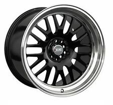 18 INCH XXR 531 BLACK MESH BBS STYLE POLISHED DISH STRETCH TYRE PACKAGE DEAL