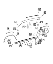 Genuine MOPAR Wheel Flare Molding Left 5XT69RXFAC