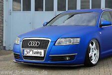 Spoilerschwert Frontspoilerlippe Cuplippe aus ABS Audi A6 4F C6 mit ABE