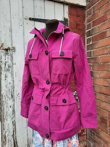 M & S Magenta Cotton Rich Stormwear Coat Jacket Anorak Size 8. NWT RRP £59.50