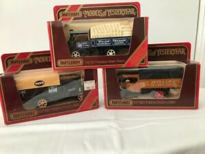 Selection of three (3) Matchbox Models of Yesteryear incl Foden Steam Wagon