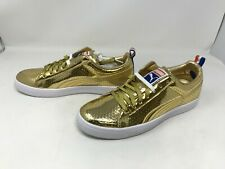 Mens Puma (360646 01) Clyde Gold Sneakers (H38-39)