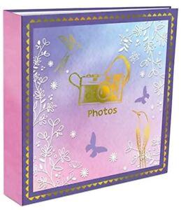 Large Memories Memo Slip In Case Photo Album For 200 Photos 4''x 6''-