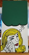 original acrylic artwork AUSTRALIAN artist POP ART MESSAGE BOARD frame or fridge