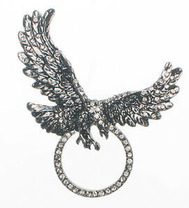RHINESTONE EAGLE SUNGLASS HOLDER PIN