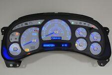 8A 05-06 2005-2006 Custom White Escalade Silverado Blue Led Replacement Cluster