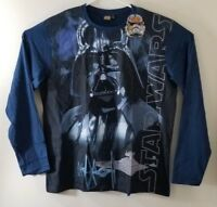 Star Wars Darth Vader Long Sleeve Shirt Official Disney Navy Size XL NWT Graphic
