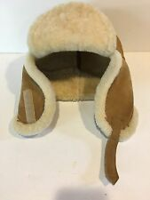 EDDIE BAUER TRAPPER HAT - SOFT LEATHER SIZE LARGE