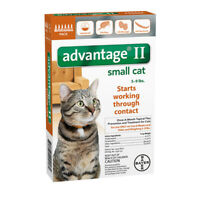 Advantage II for Small Cats 5-9 lbs - 6 Pack - EPA Approved / FREE Shipping!