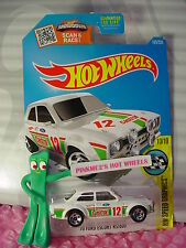2016 Hot Wheels '70 FORD ESCORT RS1600 #185✰white;red 12 Castrol✰SPEED✰Case N