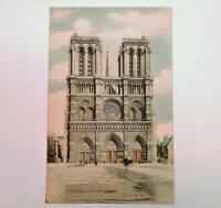 Antique Postcard View of Notre Dame Face Paris France Edition E. L.