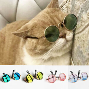 3PCS Pet Cat Glasses Cute Funny Sunglasses Eye Protection Wear For Small Cats