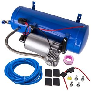 12V DC 100PSI Air Compressor Kit For Air Horn With Pressure Switch 6L Tank New