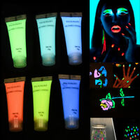 Paint Glow in the Dark Face & Body Paint Fluorescent DIY Body Art Paint Printing
