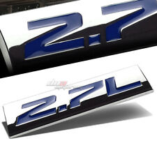 ALUMINUM STICK ON POLISHED CHROME BLUE 2.7L 2.7 L DECAL EMBLEM TRIM BADGE LOGO