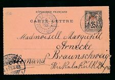 CHINA 1902 FRENCH P.O STATIONERY LETTERCARD TIENTSIN to GERMANY 25c