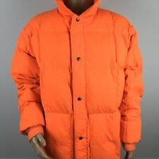 Rare Vtg 80s LL Bean Mens XXL 2XL Goose Down Quilted Hunting Jacket Blaze Orange