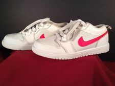 Women's Nike Air Jordan Sneakers Shoes White And Pink 554722-109 Size 2Y